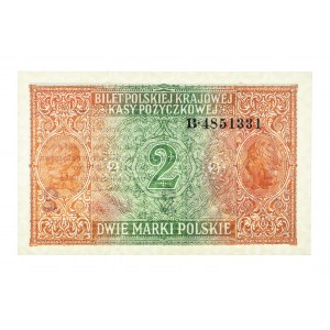 Generalne Gubernatorstwo Warszawskie, 2 marki polskie 9.12.1916, Generał, Seria B.