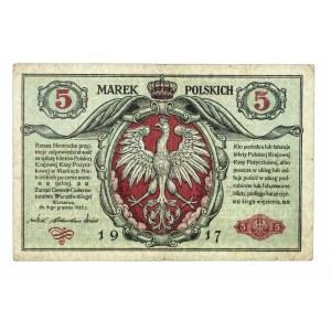 Generalne Gubernatorstwo Warszawskie, 5 marek polskich 9.12.1916, Generał, Seria B.