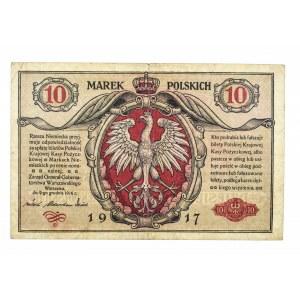 Generalne Gubernatorstwo Warszawskie, 10 marek polskich 9.12.1916, Generał, Seria A.