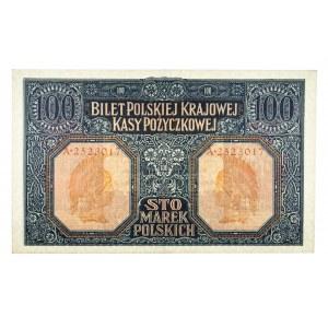 Generalne Gubernatorstwo Warszawskie, 100 marek polskich 9.12.1916, Generał, Seria A.