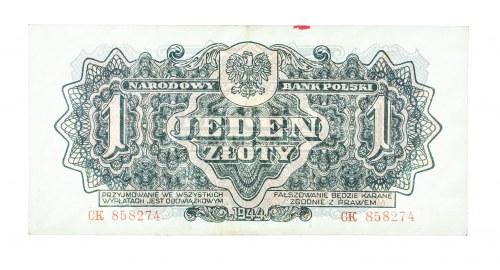 Polska, PRL 1944 - 1989, 1 ZŁOTY 1944, seria CK.