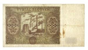 Polska, PRL 1944 - 1989, 1000 ZŁOTYCH 15.07.1947, seria H.