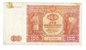 Polska, PRL 1944 - 1989, 100 ZŁOTYCH 15.05.1946, seria K.