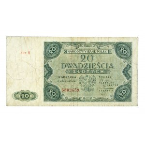 Polska, PRL 1944 - 1989, 20 ZŁOTYCH 15.07.1947, seria B.
