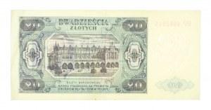 Polska, PRL 1944 - 1989, 20 ZŁOTYCH 1.07.1948, seria HP.