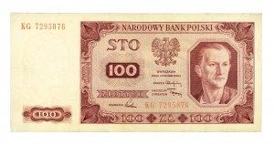 Polska, PRL 1944 - 1989, 100 ZŁOTYCH 1.07.1948, seria KG.