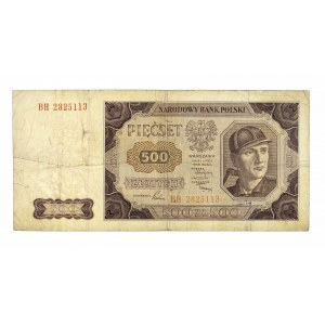 Polska, PRL 1944 - 1989, 500 ZŁOTYCH 1.07.1948, seria BH.