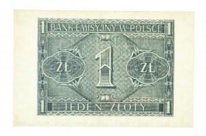 Polska, Generalna Gubernia 1940 - 1941, 1 złotych 1.08.1941, seria BF.