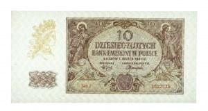 Polska, Generalna Gubernia 1940 - 1941, 10 złotych 1.03.1940, seria J.