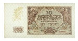 Polska, Generalna Gubernia 1940 - 1941, 10 złotych 1.03.1940, seria L.