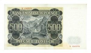 Polska, Generalna Gubernia 1940 - 1941, 500 złotych 1.03.1940, seria B.