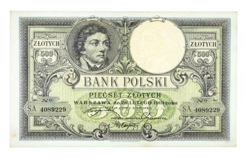 Polska, II Rzeczpospolita 1919 - 1939, 500 ZŁOTYCH, 28.02.1919, seria S.A.