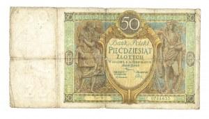 Polska, II Rzeczpospolita 1919 - 1939, 50 ZŁOTYCH, 28.08.1925, seria W.