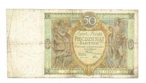 Polska, II Rzeczpospolita 1919 - 1939, 50 ZŁOTYCH, 28.08.1925, seria V.