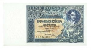 Polska, II Rzeczpospolita 1919 - 1939, 20 ZŁOTYCH, 20.06.1931, seria CN.