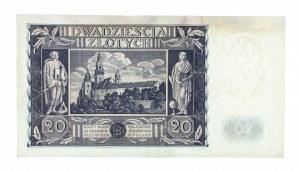 Polska, II Rzeczpospolita 1919 - 1939, 20 ZŁOTYCH, 11.11.1936, seria CO