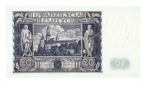 Polska, II Rzeczpospolita 1919 - 1939, 20 ZŁOTYCH, 11.11.1936, seria CP