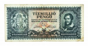 Węgry, Magyar Nemzeti Bank, 10.000.000 pengo 16.11.1945, Budapeszt.