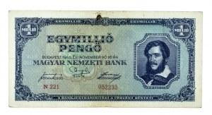 Węgry, Magyar Nemzeti Bank, 1.000.000 pengo 16.11.1945, Budapeszt.