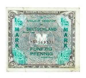 Niemcy, Alliierte Militärbehörde, bon okupacyjny 50 pfennig 1944.