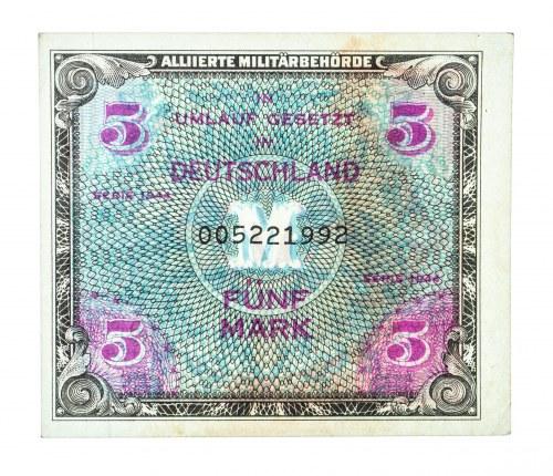 Niemcy, Alliierte Militärbehörde, bon okupacyjny 5 marek 1944.