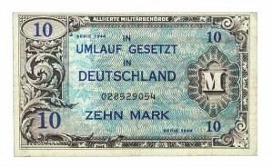 Niemcy, Alliierte Militärbehörde, bon okupacyjny 10 marek 1944.
