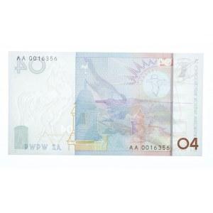 Polska, Rzeczpospolita od 1989 r., PWPW, banknot testowy - PTASZEK O4. Seria AA.