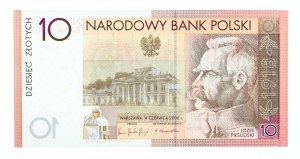 Polska, Rzeczpospolita od 1989 r., NBP - banknot kolekcjonerski, 10 złotych, 90 rocznica odzyskania przez Polskę niepodległości, Warszawa 2008.