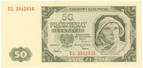 Polska, PRL 1944 - 1989, 50 ZŁOTYCH 1.07.1948, seria EL (2)
