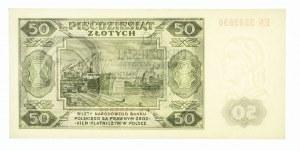 Polska, PRL 1944 - 1989, 50 ZŁOTYCH 1.07.1948, seria EN.