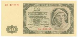Polska, PRL 1944 - 1989, 50 ZŁOTYCH 1.07.1948, seria EA.