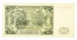Polska, PRL 1944 - 1989, 50 ZŁOTYCH 1.07.1948, seria ED.