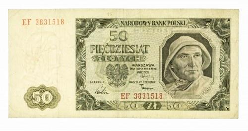 Polska, PRL 1944 - 1989, 50 ZŁOTYCH 1.07.1948, seria EF.