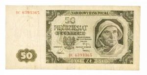Polska, PRL 1944 - 1989, 50 ZŁOTYCH 1.07.1948, seria BC.