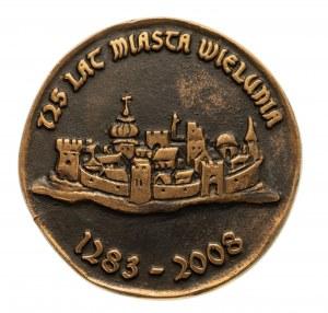Polska, Rzeczpospolita od 1989 r., medal 725 lat miasta Wielunia 2008
