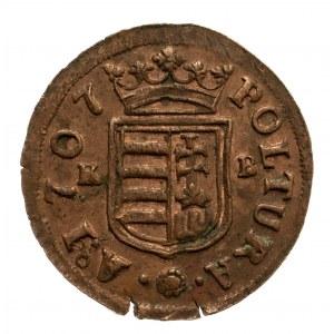 Węgry, Powstanie Rakoczego 1703-1707, poltura 1707 K B, Kremnica.