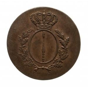 Niemcy, Prusy, Fryderyk Wilhelm III, 1797 - 1840, 1 pfennig 1810, Berlin.