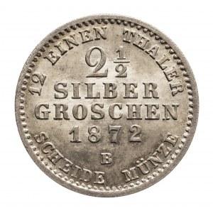 Niemcy, Prusy, Wilhelm I 1861-1888, 2 1/2 srebrnego grosza 1872 B.