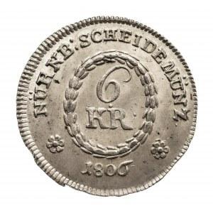 Niemcy, Norymberga, 6 kreuzer 1806.
