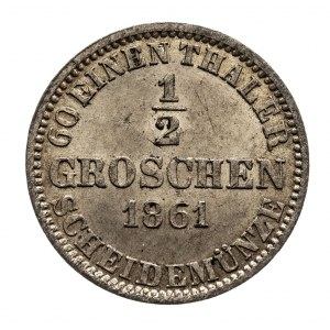 Niemcy, Hanower, 1/2 grosza 1861.