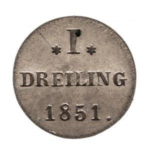 Niemcy, Hamburg, 1 dreiling 1851.