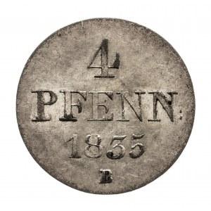 Niemcy, Hanower, 4 pfenninge 1835.