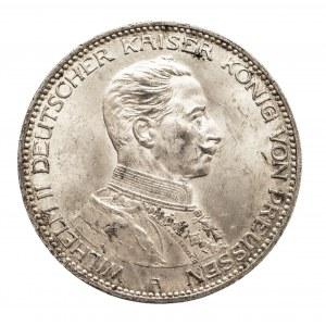 Niemcy, Cesarstwo Niemieckie 1871-1918, Prusy, Wilhelm II 1888-1918, 3 marki 1914 A, Berlin, popiersie cesarza w mundurze