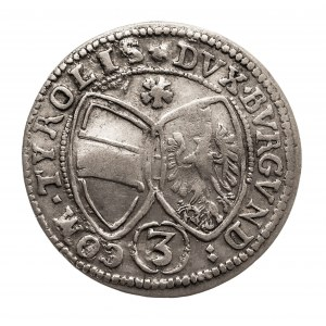 Austria, Ferdynand Karol 1632 - 1662, 3 krajcary 1639, Hall.