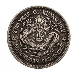 Chiny, Mandżuria, 20 centów 33 rok (1907/1908)