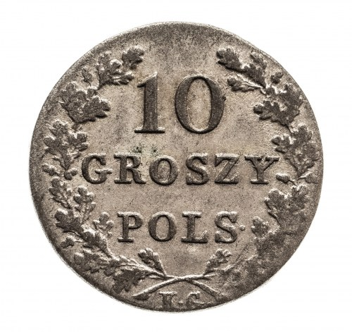 Powstanie Listopadowe 1830-1831, 10 groszy 1831, Warszawa.