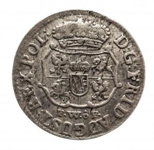 Polska, August III Sas 1733–1763, 1/24 talara 1738 FWôF, RRR, Drezno.