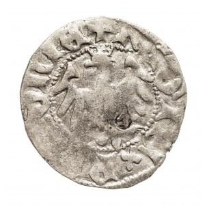 Polska,Władysław Jagiełło (1386–1434), półgrosz 1407, Kraków, bez znaku pod koroną