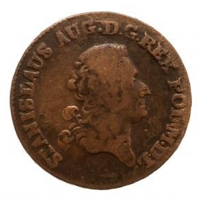 Polska, Stanisław August Poniatowski 1764-1795, trojak 1777 E.B., Warszawa.