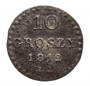 Księstwo Warszawskie 1807-1815, 10 groszy 1812, Warszawa